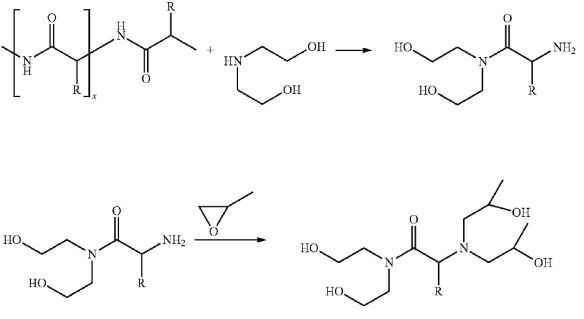 Transamidation of protein with subsequent epoxidation.