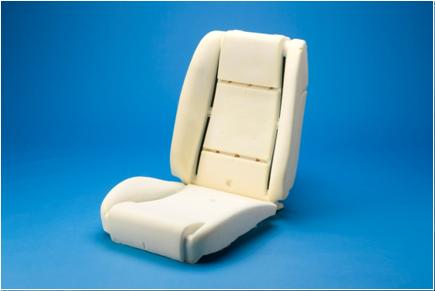 Cold cure moulded car seat cushions