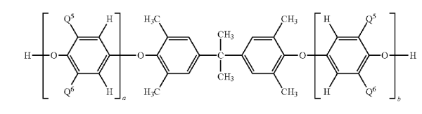PPE diol used in the invention. Q5 and Q6 pare methyl.