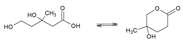 Dihydroxymethylvaleric acid and its corresponding lactone